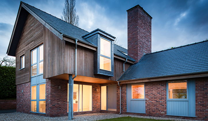 Architecture - contemporary residential property at dusk