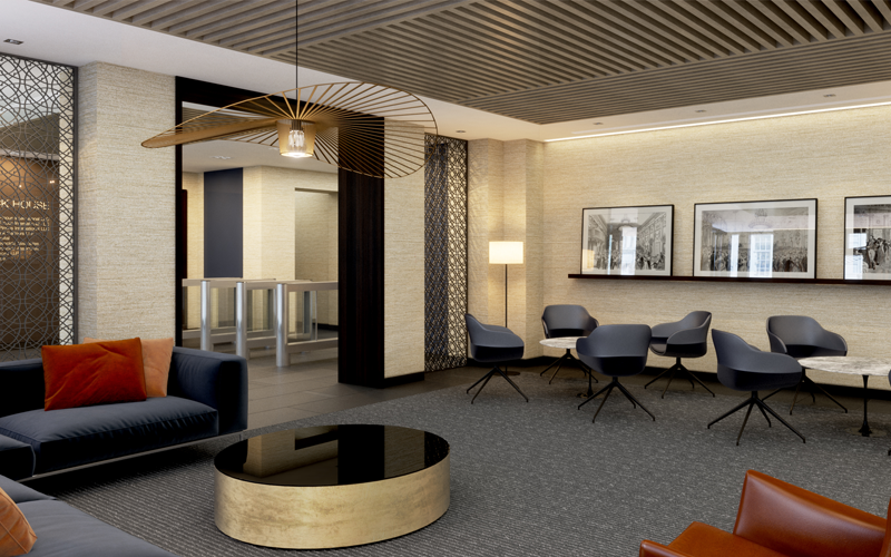 Strategy - Visualisation - 3D CGI of Almack House reception and waiting area