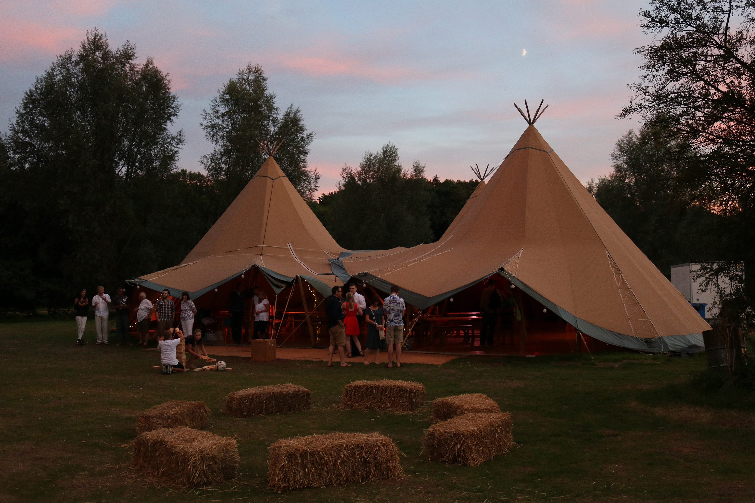 Mansfield Monk 25th anniversary celebrations - teepee at dusk