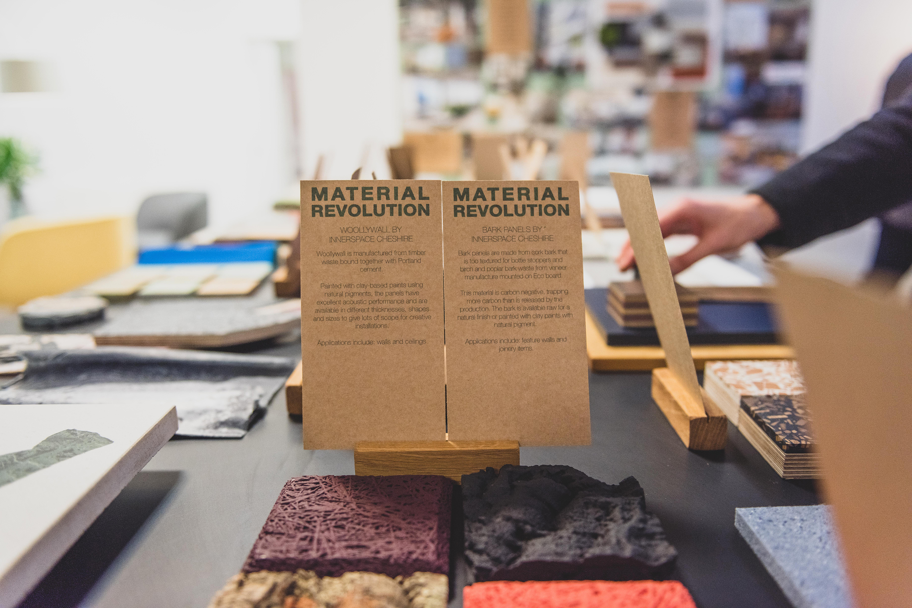 Sustainable material samples