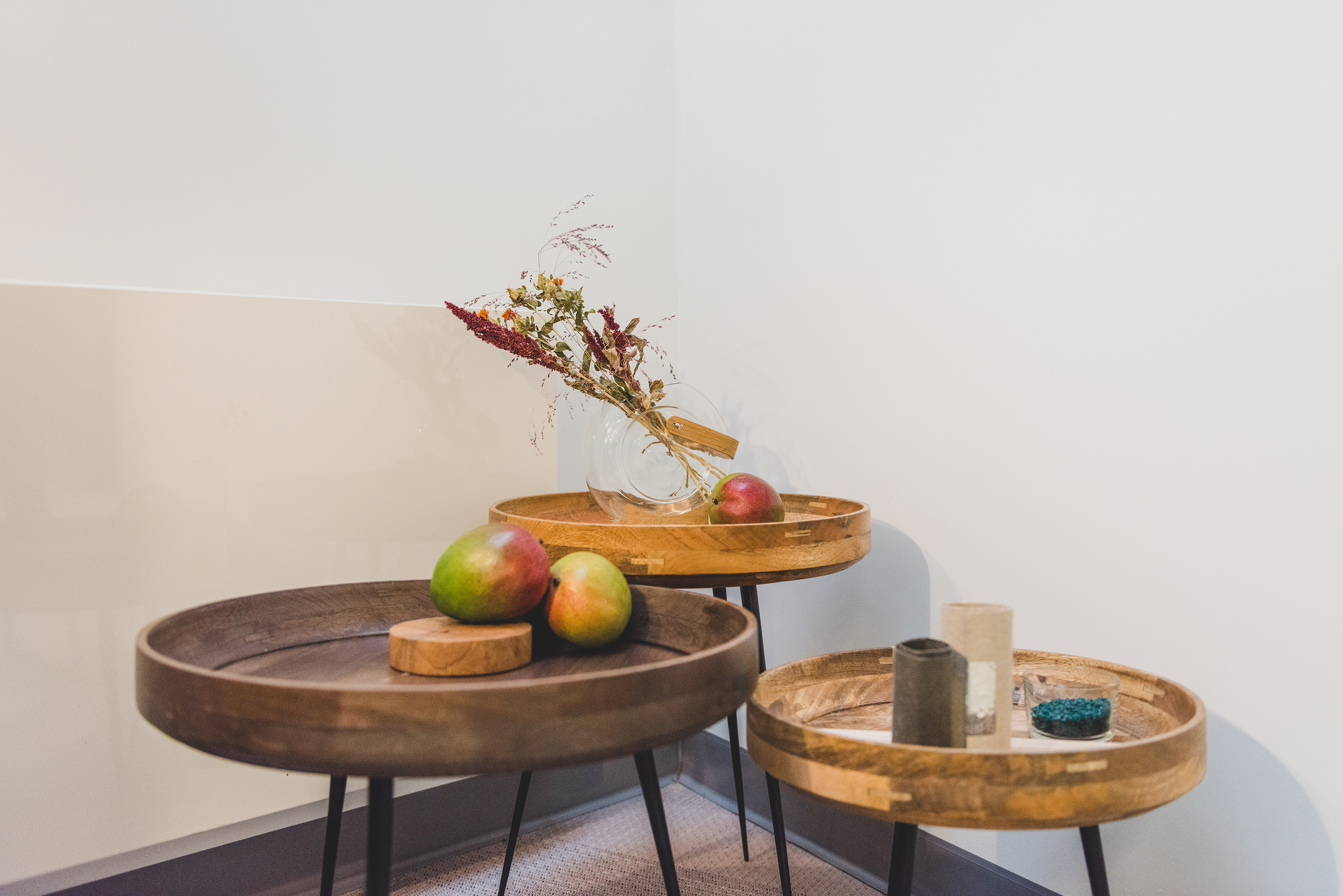 Mater tables made from mango wood