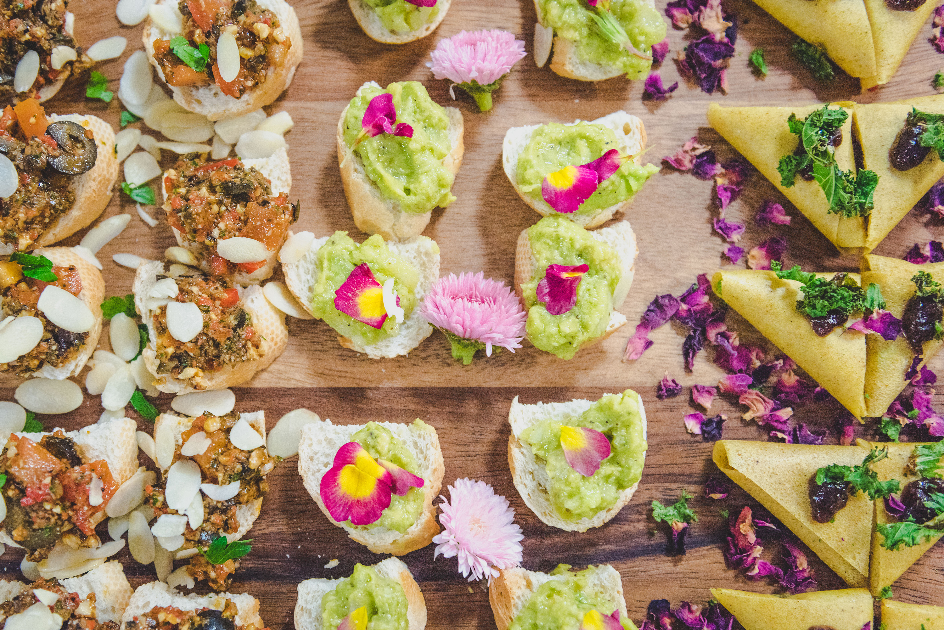 Vegan canapes from Nature.London