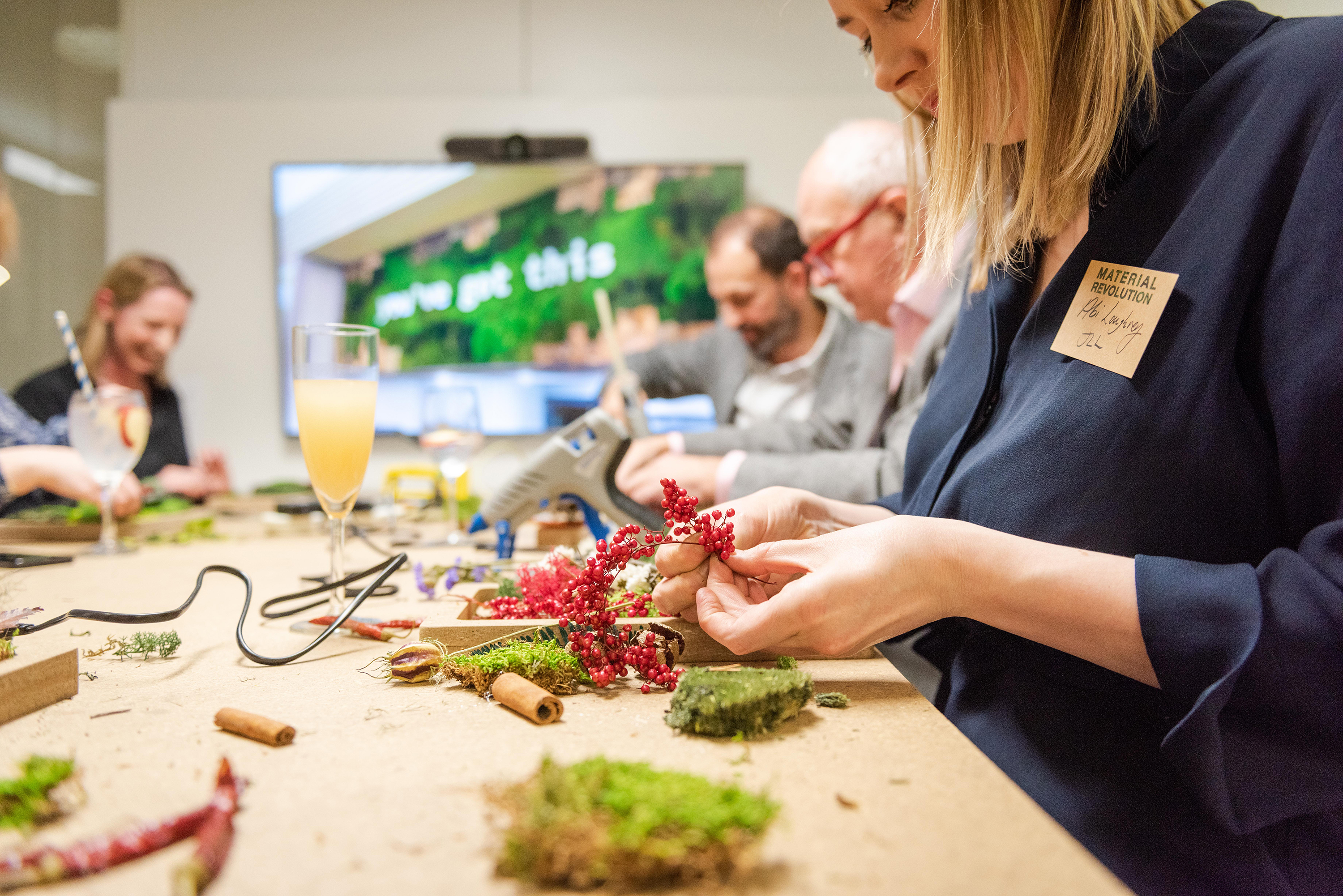 Creating masterpieces at the 'hands on' moss workshop