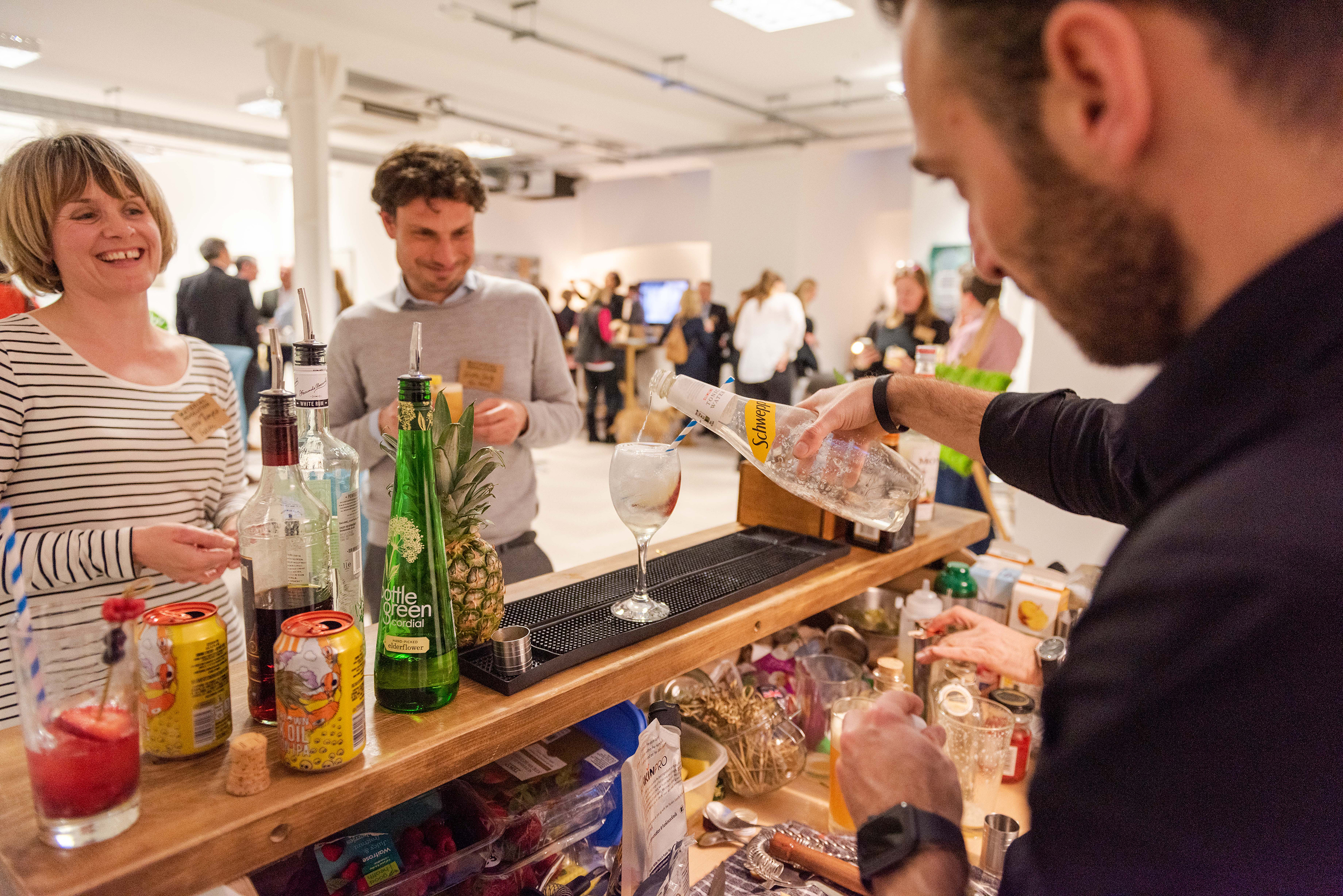 Guests were treated to vegan cocktails and beer
